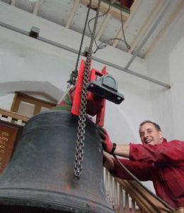 18th photo in the journey of the removal of Number 5 Bell from Lytchett Minster Parish Church in 5th November 2019