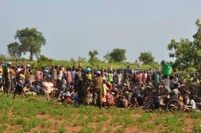 people escaping fighting in Wau -June 2016