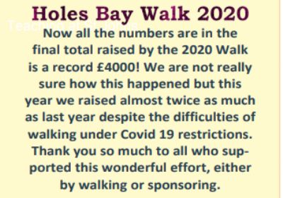 Informatiion about the Holes Bay Walk in 2020.  Poole-Wau Partnership.