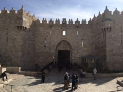 63 The Damascus Gate of Jerusalem. Photo taken during Holy Land Pilgrimage 3rd Dec 2018