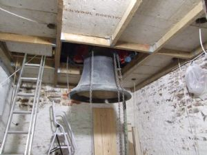 12th photo in the journey of the removal of Number 5 Bell from Lytchett Minster Parish Church in 5th November 2019