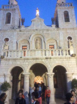 Church at Cana.  Photo taken during Holy Land Pilgrimage 28th Nov 2018