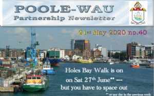 Image taken from the first part of the Newsletter for Poole-Wau Partnership 21st May 2020.  Number 40