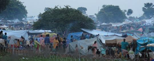 tents and refugees displaced from Wau - June 2016