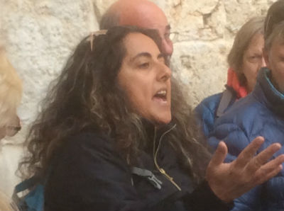 46 Sonia, our brilliant guide! Photo taken during Holy Land Pilgrimage 2nd Dec 2018