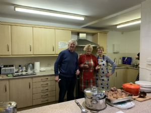 Dave and Jane led the February lunch team at Routes to Roots