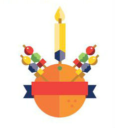 Image of a finished Christingle