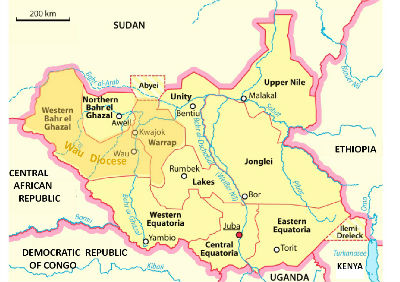 Wau Diocese within South Sudan