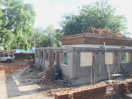 building work on main buildingof Guest House
