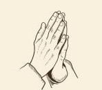 Image of two hands together in prayer