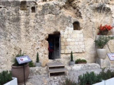 64 The beautiful Garden Tomb  - empty of course.  Photo taken during Holy Land Pilgrimage 3rd Dec 2018