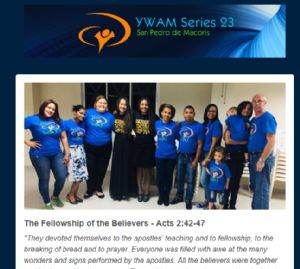 Part of the first sheet of Malcolm and Yanet's ministry update- 30th Aug 2018