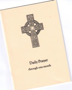Image of the Daily Prayer booklet 30-3-20