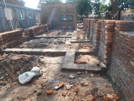 wall foundations at Guest House