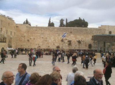 48 The western Wailing wall, Jerusalem. Photo taken during Holy Land Pilgrimage 2nd Dec 2018