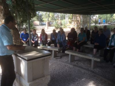 Communion at the Mount of Beatitudes. Photo during Holy Land Pilgrimage 27th Nov 2018