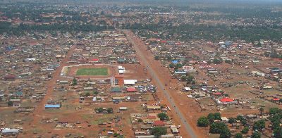 aerial view of Wau City