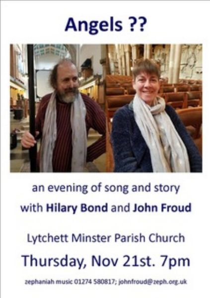 Concert on 21st November by Hilary Bond and John Froud