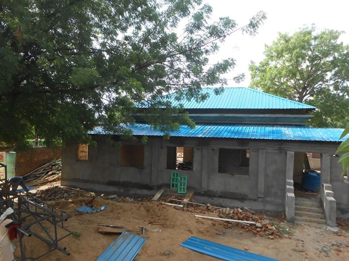 Guest House being built - June 2015