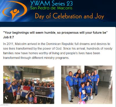 Anniversary News Update from Malcolm and Yanet on 20-01-20 from Dominican Rebublic