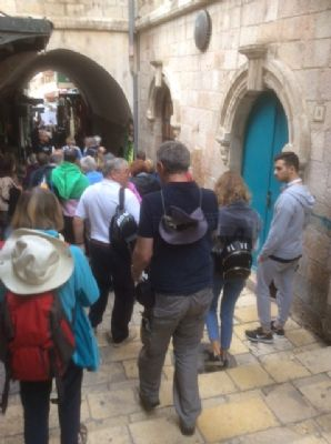 52 Our journey down the Via Dolorosa.  Photo taken during Holy Land Pilgrimage 2nd Dec 2018