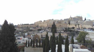 View of Jerusalem. Photo taken during Holy Land Pilgrimage 29th Nov 2018