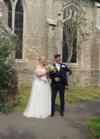 One of the six photos currently on our Facebook page from the wedding of Jonathan de Garis and Alexandra Wehlau on 8th August 2020