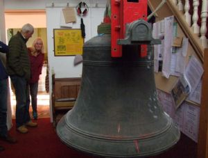 19th photo in the journey of the removal of Number 5 Bell from Lytchett Minster Parish Church in 5th November 2019