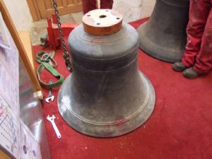 25th photo in the journey of the removal of Number 5 Bell from Lytchett Minster Parish Church in 5th November 2019