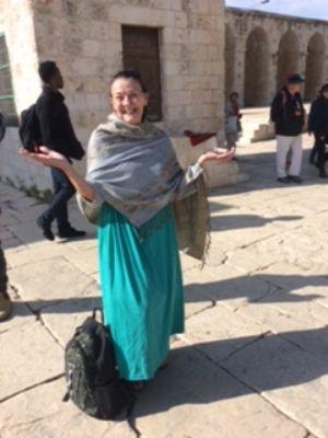 59 Heather in Jerusalem. Photo taken during Holy Land Pilgrimage 3rd Dec 2018