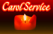 candle and the words Carol Service