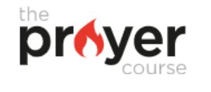 Logo for The Prayer Course taken from the website https://prayercourse.org/about/