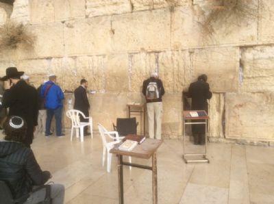 49 Praying at the Wailing wall.  Photo taken during Holy Land Pilgrimage 2nd Dec 2018