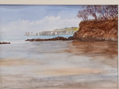 Redend Point, Studland - Watercolour by Eric  10/6/20