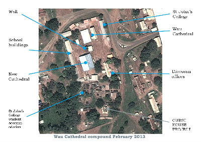 Photo plan of the Wau Cathedral compound