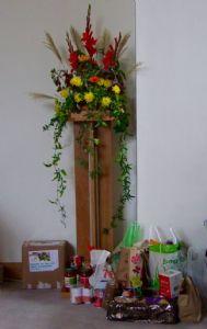 Harvest Festival flowers at St Dunstan's  - 2019