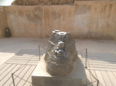 68 The model of Herods fortress at Masada. Photo taken during Holy Land Pilgrimage 4th Dec 2018
