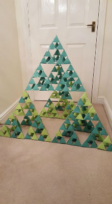 3 dimensional Sierpinski triangle christmas tree