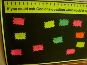 If you could ask God a question...
