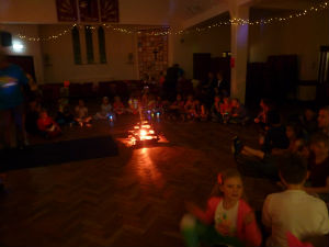 Light Party 2017 Children and candles