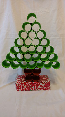 Toilet Roll Tree by Anna  Abigail Rushforth
