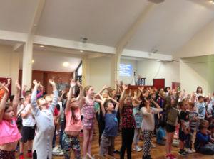 Older children singing
