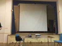Main Hall projection screen