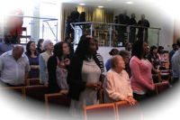 Congregation at a service