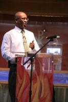 Revd. Rupert Lazar preaching