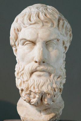 Epicurus statue