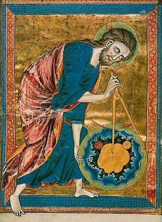 13th century image of God the Creator
