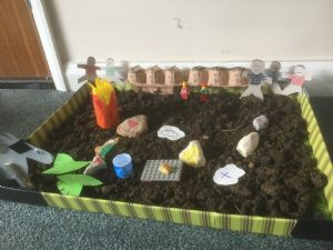 easter garden with table craft
