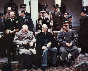 Yalta conference - Churchill et al