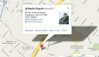 St Pauls Map